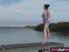 Girls out west - outdoor dildo masturbation tubes