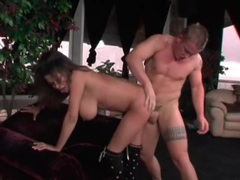 Making natural tits swing with doggystyle sex videos