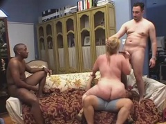 Interracial gangbang of a big fat slut videos