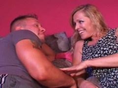 Busty milf seduces the muscular young guy movies at adipics.com