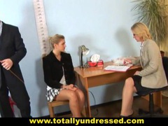 Shocking job interview for a secretary tubes