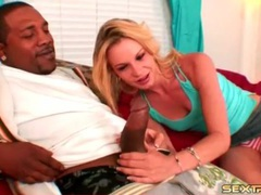 Skinny blonde sucks on a huge black cock videos
