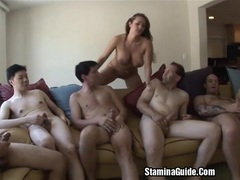 Group blowjobs for trina michael and got a facial2 movies at lingerie-mania.com