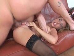 Blonde deepthroats his dick after a hot fuck movies at very-sexy.com