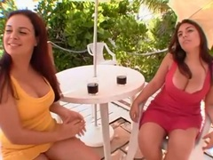 Curvy latina friends show tits and finger outdoors movies at sgirls.net