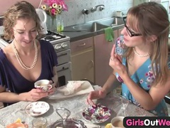 Cute australian lesbians lick their pink holes videos