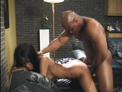 Skinny ebony girl laid in the lovely pussy movies at sgirls.net