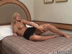 Masturbating shaved pussy and sucking a dick clip