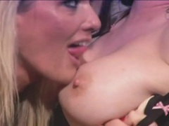 Lesbian moms finger each other in sexy video videos