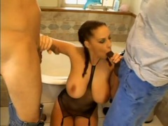Big tits gianna michaels blows lots of guys videos