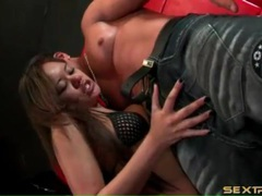 She gags when deepthroating a thick cock videos