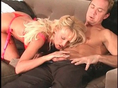 Blonde milf blowjob video ends with a titjob videos