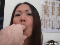 Asian in doctor office bares little tits videos