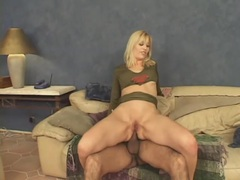 Sexy red heels on blonde that loves anal sex movies at find-best-mature.com