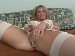 Mom in white lingerie toys pussy and sucks dick movies at find-best-lingerie.com