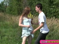 Busty pale teenager fucked outdoors videos