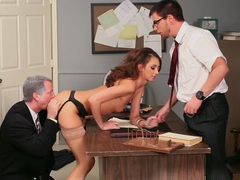 Katie jordin gets stabbed by two cocks! videos