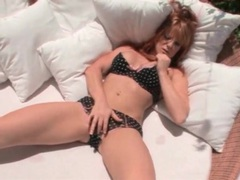 Redhead models big tits and panties outdoors videos