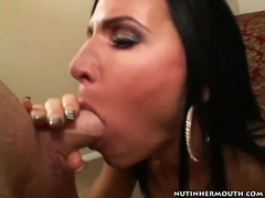 Brown eyed milf sucks off a dick with great skill videos