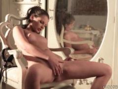 Skinny girl fingers her pussy in sunlight videos