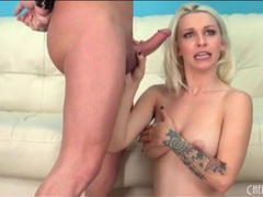 Tattooed blonde stevie shae sucks a dick videos