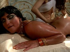 Beautiful girl oiled up by her sexy servant videos