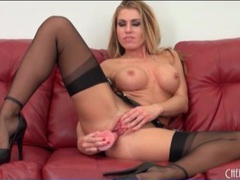 Randy moore masturbates in seamed black stockings videos