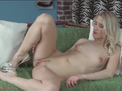 Sexy blonde in pretty panties strips and masturbates movies at find-best-panties.com