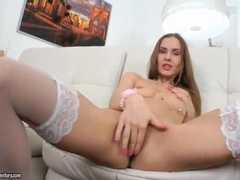Tease in tiny skirt and stockings fingers cunt movies at find-best-ass.com