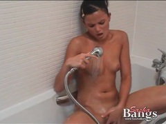 Bikini girl soaps up in the shower videos