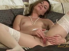 Sexy solo milf with small tits in stockings movies at sgirls.net