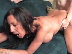 Dude cums on milf ass and keeps fucking her videos