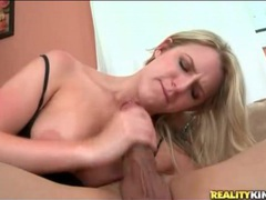 Blonde sucks on his big cock and rides it movies at sgirls.net