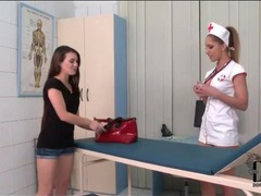 Nurse melanie gold plays with a patient movies at find-best-lingerie.com
