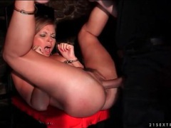 Slut in the dungeon fucked hardcore from behind videos
