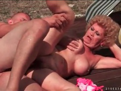 Moaning granny fucked poolside by young dick videos