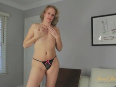 Curvy milf striptease with finger fucking movies at freekilomovies.com