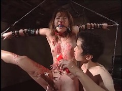 Pain is extreme in japanese bdsm video videos