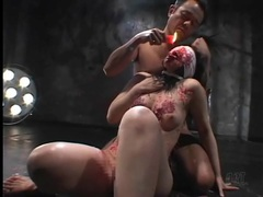 Hot wax singes the body of japanese submissive videos