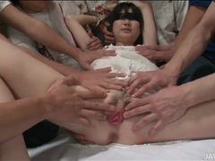Blindfolded japanese girl fondled and fingered videos