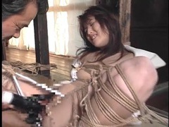 Hot red wax drips all over her bound body videos
