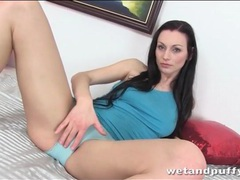 Beauty with long brown hair rubs her pussy movies at kilogirls.com