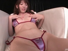 Skimpy satin bikini on masturbating japanese girl tubes at japanese.sgirls.net
