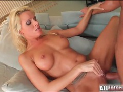 Pierced and tattooed blonde in creampie sex videos