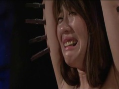 Clothes pins and hot wax on japanese girl videos