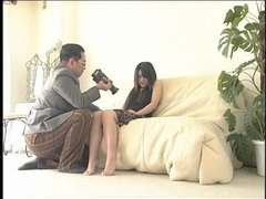 Submissive young lady inspected by his camera videos