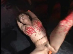 Pain for her pussy and body during hot wax play movies at adspics.com