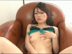 Sultry japanese girl ryo kaede masturbates tubes at lingerie-mania.com