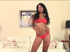Black girl ivy sheer in red lace lingerie videos