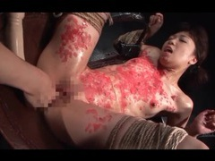 Lots of rope ties up this slender japanese girl videos